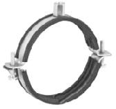 Úchyt kovového potrubí s gumou