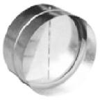 Kovová zpětná klapka Ø 100 mm
